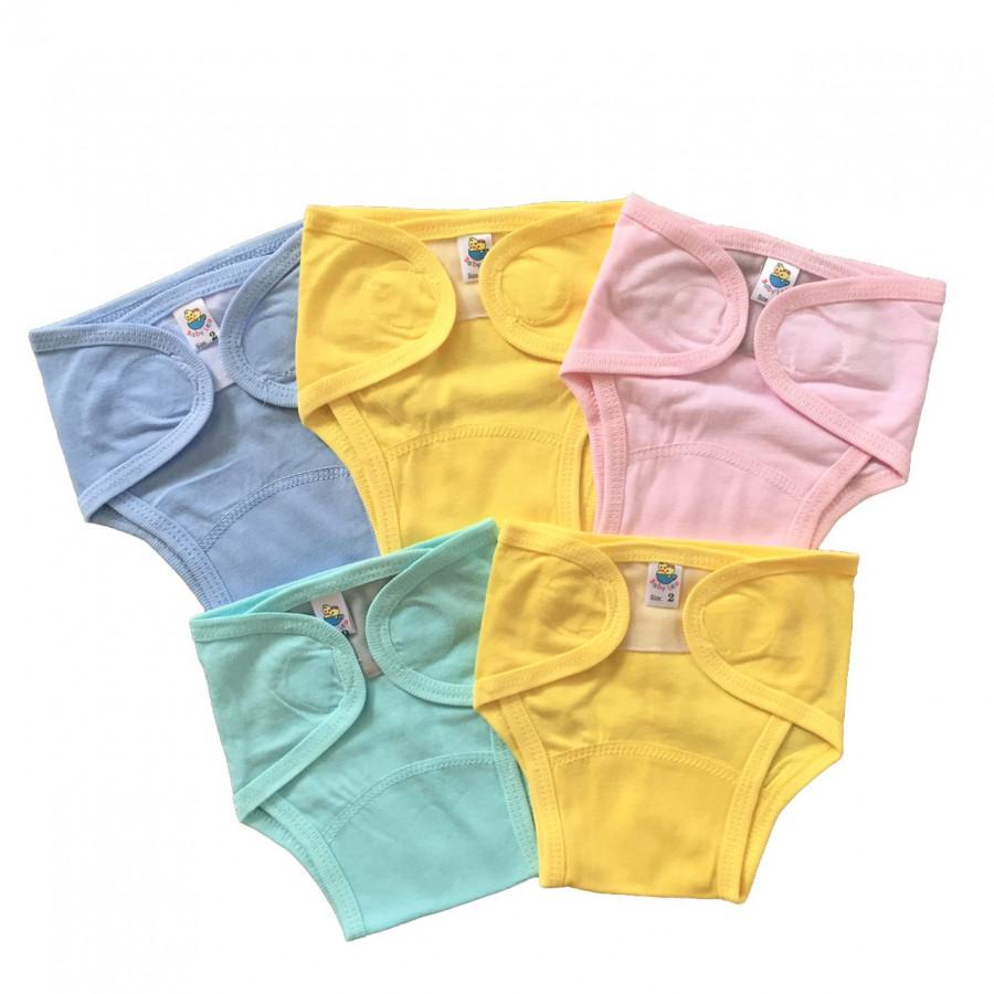Combo 5 quần bỉm, tả vải cotton sơ sinh THT - 3
