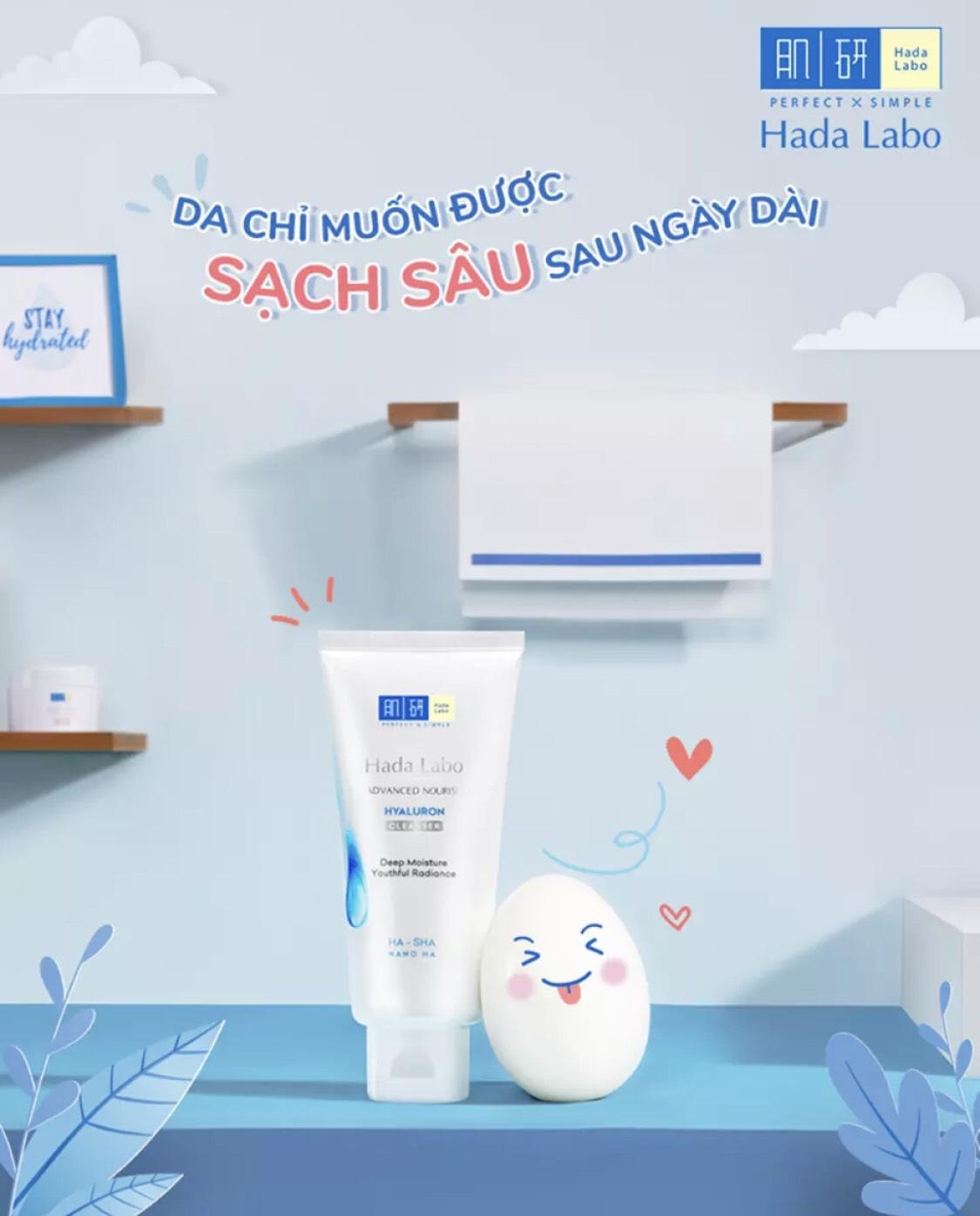Hình ảnh Kem Rửa Mặt Dưỡng Ẩm Tối Ưu Hada Labo Advanced Nourish Hyaluron Cleanser (80g)