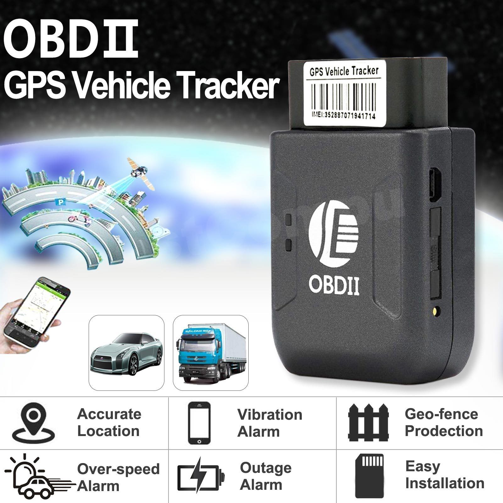 Thiết Bị Định Vị GPS Chống Trộm Cho Ô Tô Cổng OBDII AZONE