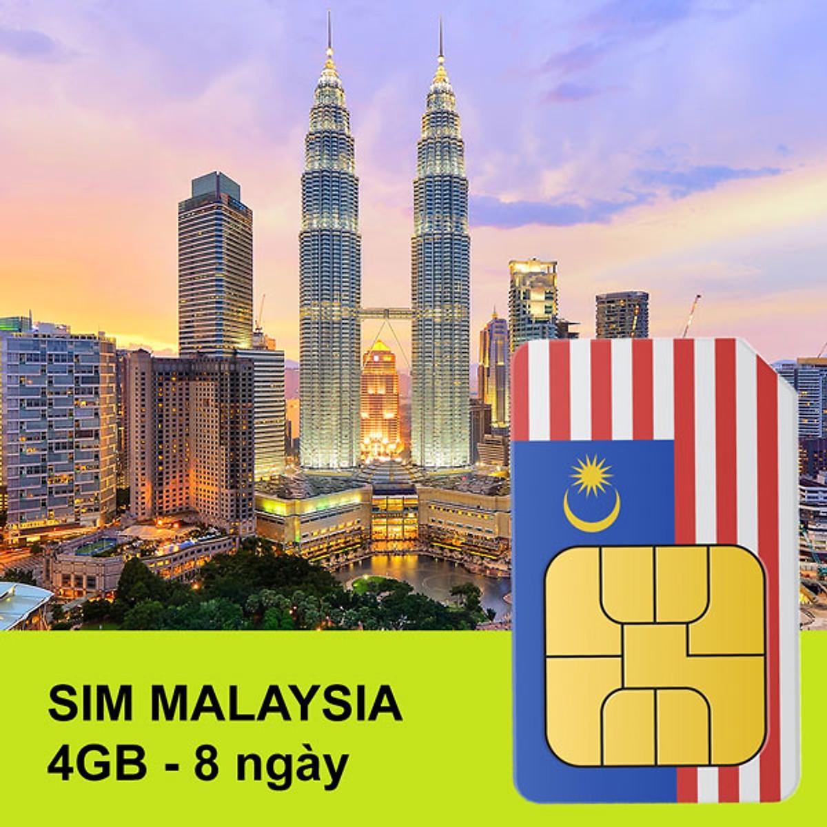 A-H SIM DU LỊCH MALAYSIA -08 NGÀY SỬ DỤNG KHÔNG HẠ BĂNG THÔNG - TỐC ĐỘ CAO KHÔNG GIỚI HẠN 4G