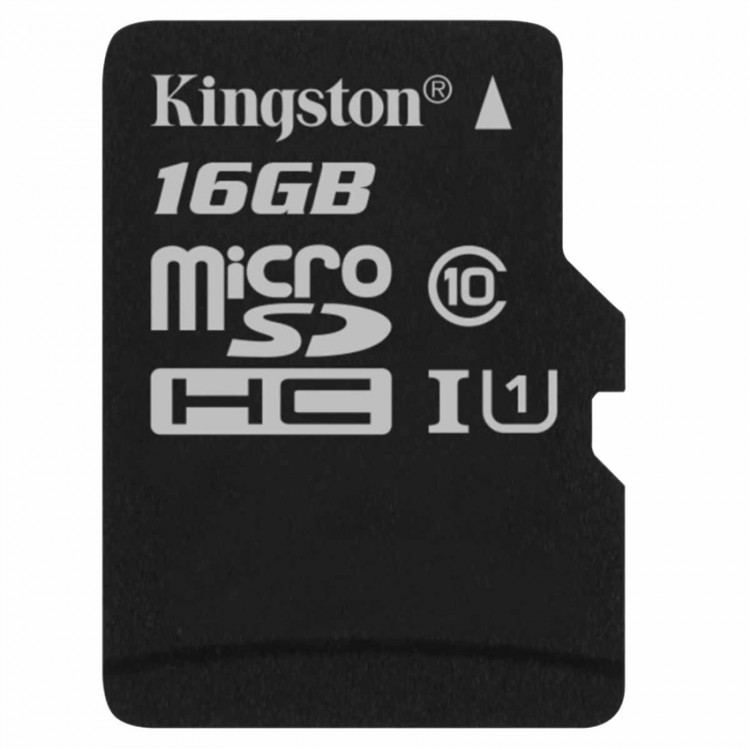 Image result for Thẻ nhớ Kingston 16GB microSDHC Canvas Select 80R CL10 UHS-I Single Pack, no Adapter_ SDCS/16GBSP