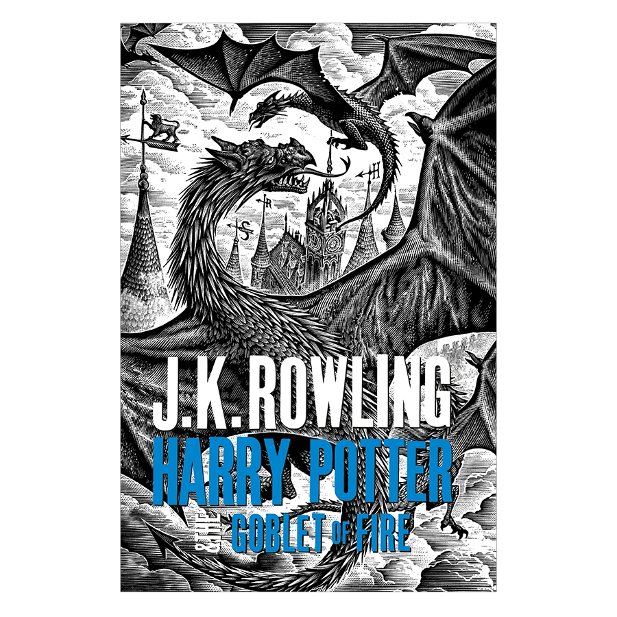 Harry Potter Part 4: Harry Potter And The Goblet Of Fire (Hardback) (Harry Potter và chiếc cốc lửa) (English Book)