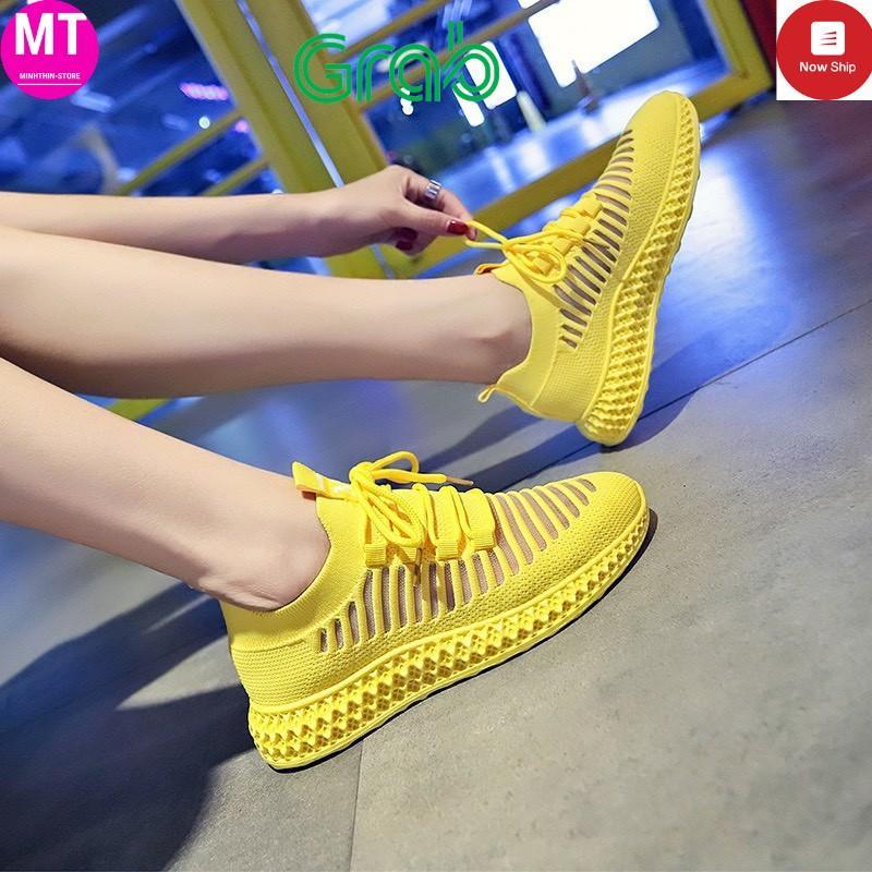 Giày sneaker thể thao tập gym, chạy bộ,aerobic nữ cổ chun thoáng khí đế mềm GN17