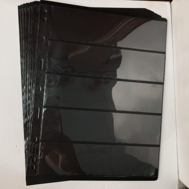Combo 10 Phơi đựng tem 5 ngăn đen , bảo quản tem sưu tầm chuyên nghiệp