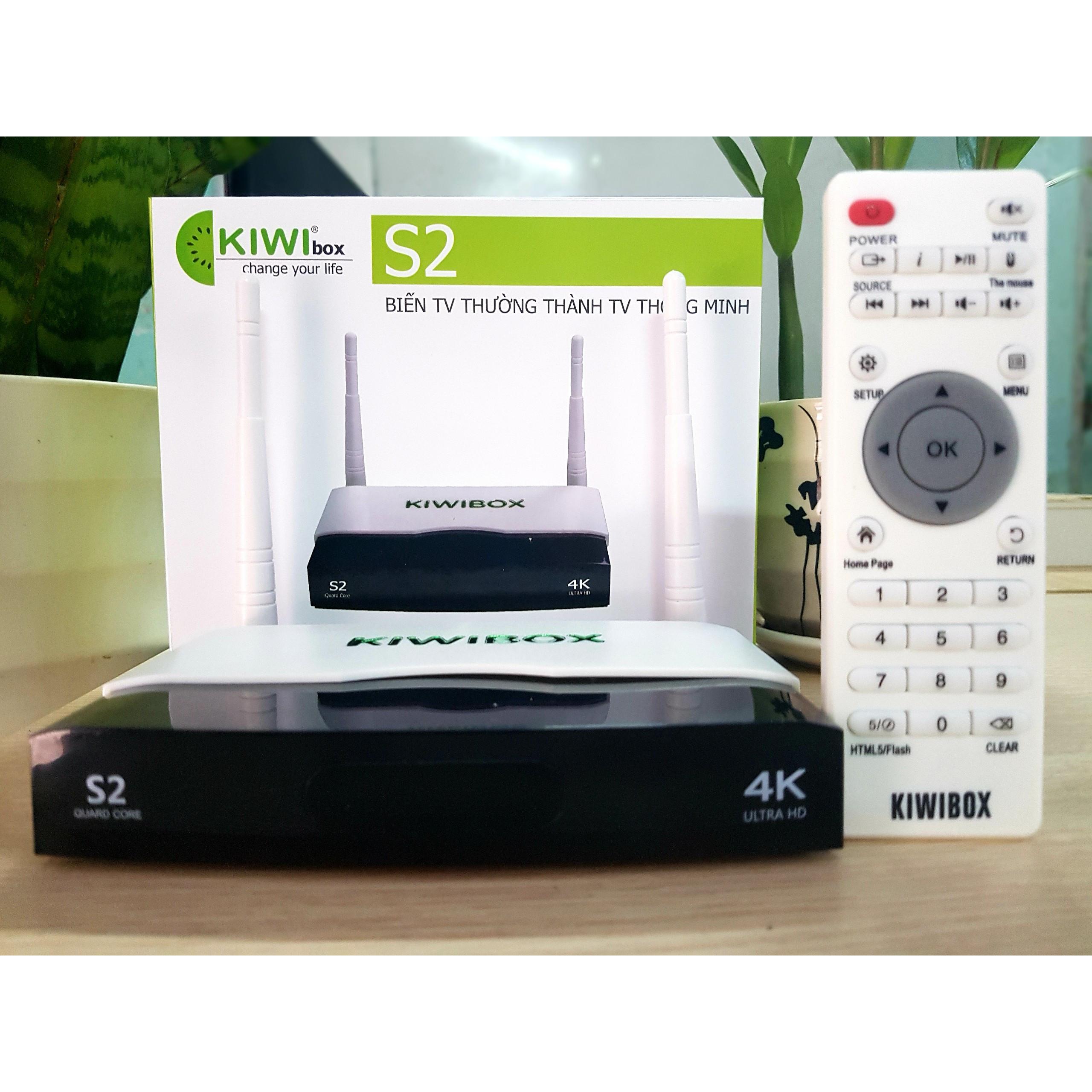 Tivibox KIWI S2 bản mới 2020 hỗ trợ Điều khiển Giọng Nói- SẢN PHẨM CHÍNH  HÃNG   S Audio