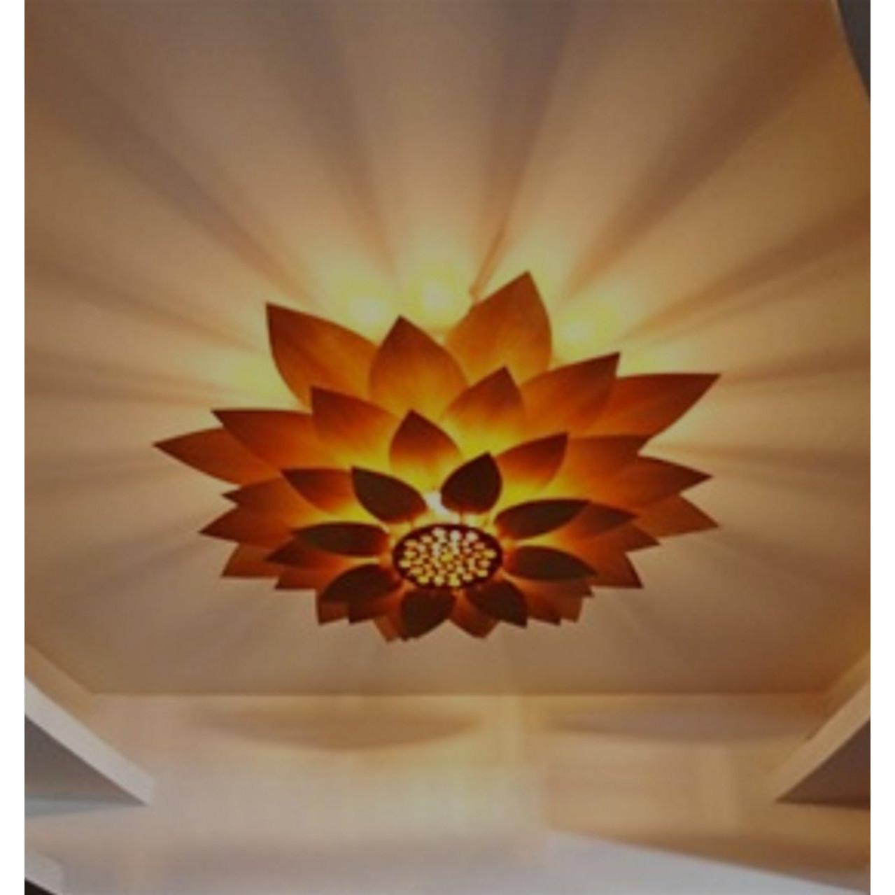 Đèn trần, đèn chùm gỗ cao cấp ALTT058, tặng kèm bóng led