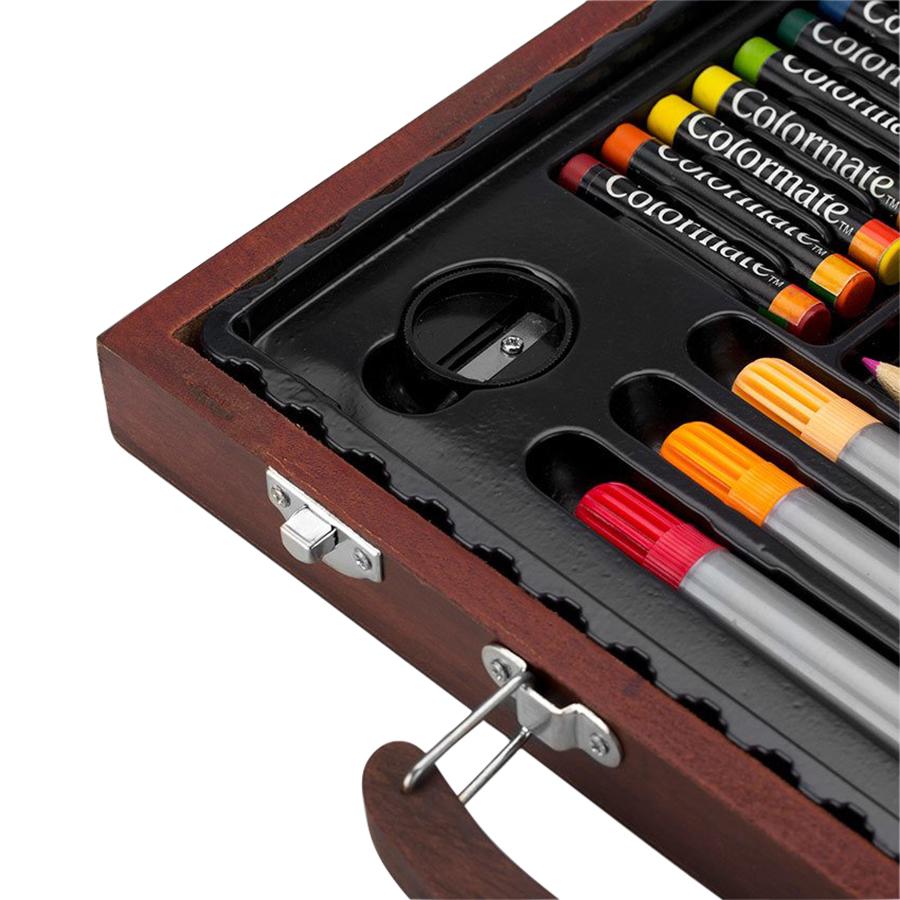 Bộ Màu Đa Năng Hộp Gỗ Hiệu Colormate 82W