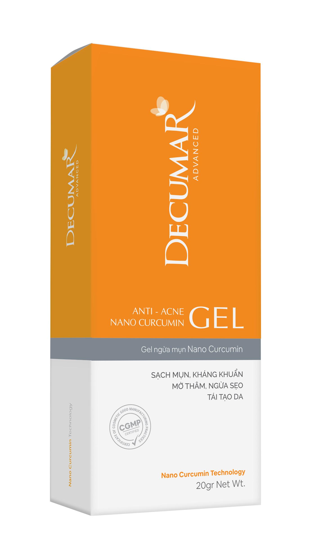 Gel ngừa mụn viêm thâm đầu đen  Decumar Advanced 20 gr hoàn toàn mới