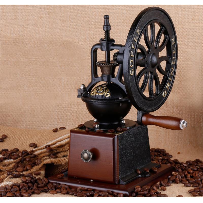 Cối Xay Cà Phê Gang Đúc Loại Cổ Điển Cao Cấp - Vintage Manual Coffee Grinder