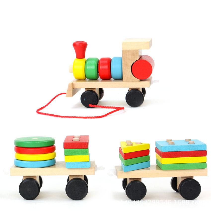 Đồ chơi đoàn tàu thông minh chở gỗ
