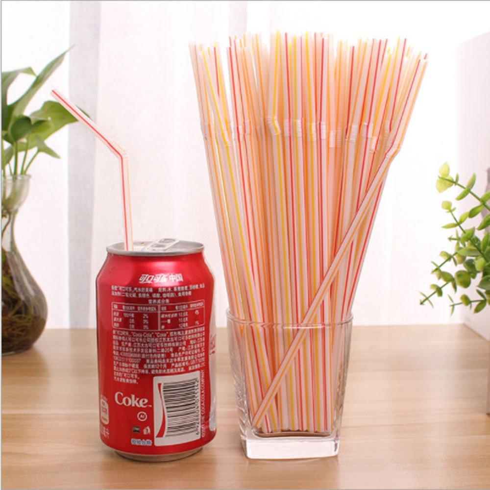Bịch 100 ống hút nhựa nhiều màu dùng 1 lần