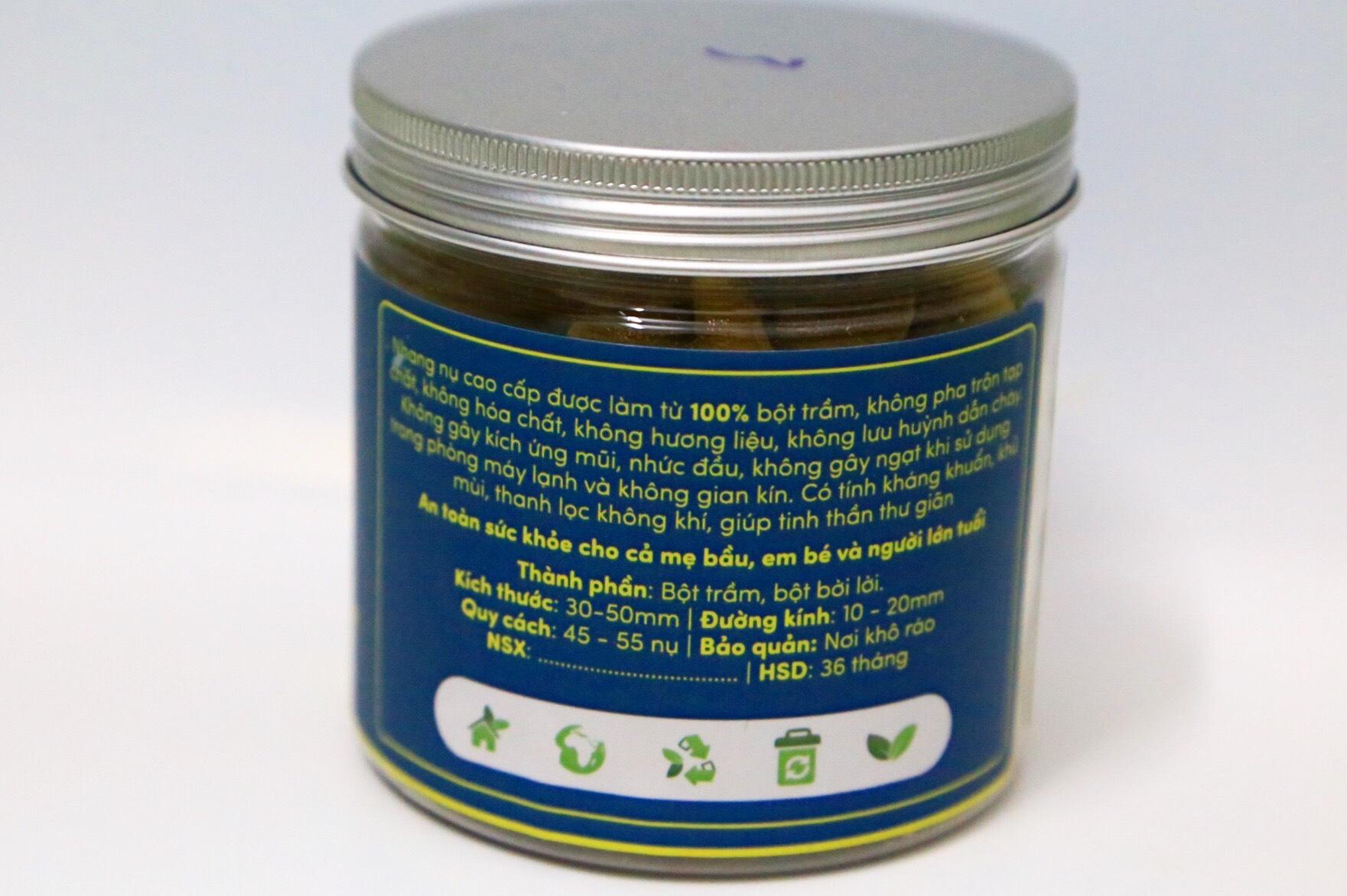 Nhang Nụ Trầm Hương khói tỏa ngược cao cấp An Mộc Nhiên từ 100% thiên nhiên dùng cho thác khói
