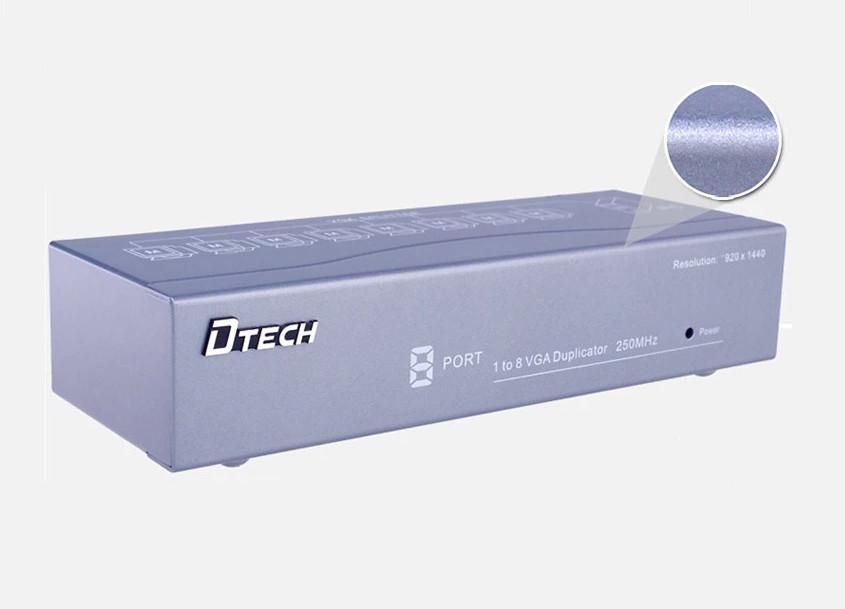 Bộ chia tín hiệu VGA 1 ra 8 DTECH DT-7258 chính hãng