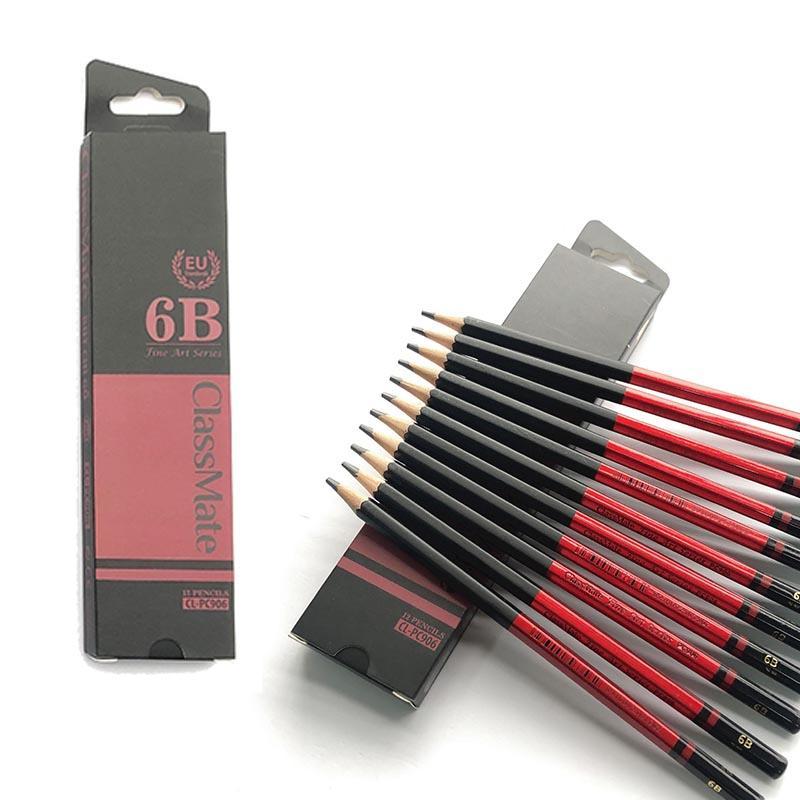 COMBO 6 Cây Bút chì gỗ 6B cao cấp CLASSMATE Fine Art 6B CL-PC906