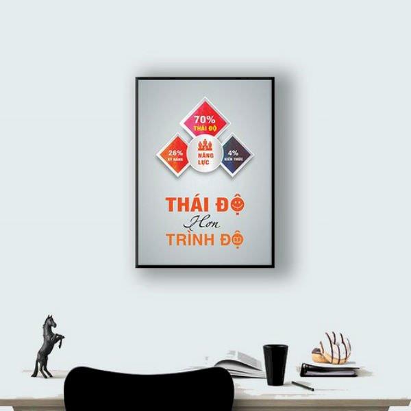 """Tranh Tạo Động Lực """"Thái Độ Hơn Trình Độ"""" W092"""