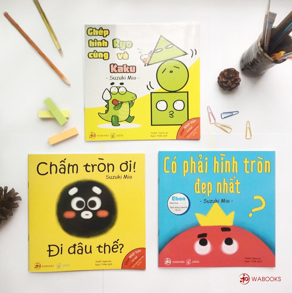 Combo Sách Ehon Moi Moi - Giúp các em bé ngừng khóc - Điều kỳ diệu của hình khối- Ehon Nhật Bản cho bé 0-6 tuổi