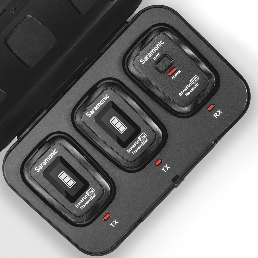Micro thu âm không dây Saramonic Blink 500 Pro B2 (TX+TX+RX) - Hàng Nhập Khẩu