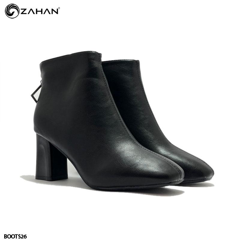 Boots nữ, 7cm, mũi vuông, BOOTS26