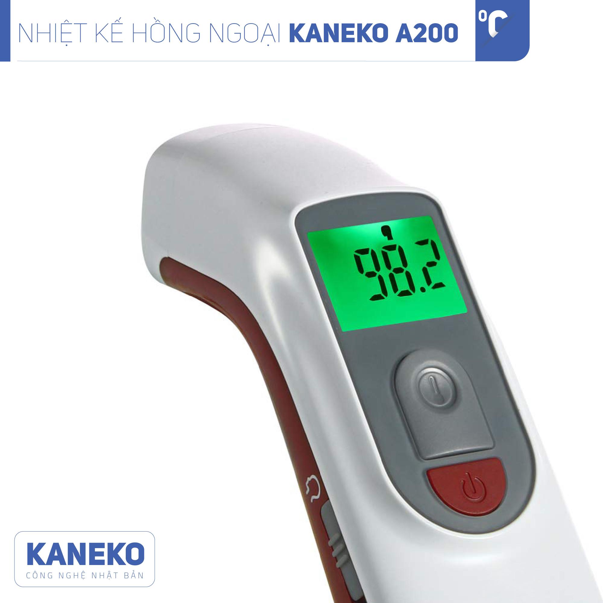 Nhiệt kế hồng ngoại KANEKO A200,Nhiệt kế cầm tay,Nhiệt kế đo trán,Nhiệt kế điện tử,Nhiệt kế đo độ sữa,Nhiệt kế đo nhiệt độ dành cho trẻ em,Máy đo thân nhiệt