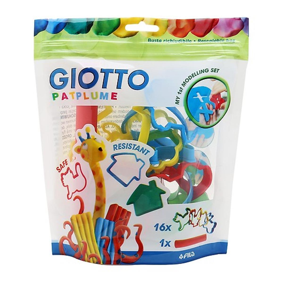 Combo 1 túi đất nặn 10 màu Giotto Patplume classic và 1 Bộ Khuôn chơi đất nặn GIOTTO PATPLUME