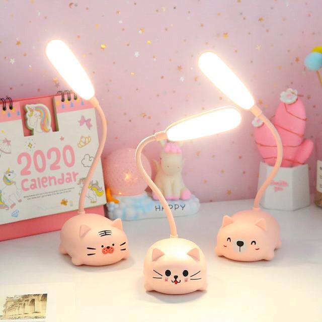 Bộ Đèn Led Để Bàn Mini Có Thể Gập Xoay 360 Độ Hình Thú ( Giao hình ngẫu nhiên ) - Tặng 1 cột tóc quả bơ