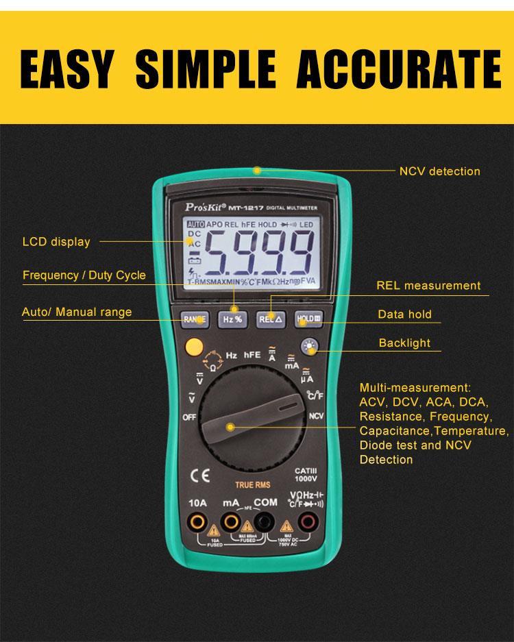 Đồng hồ đo Pro'skit MT-1217
