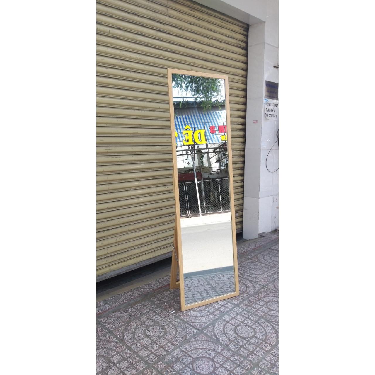 Gương soi toàn thân khung gỗ 50x170cm