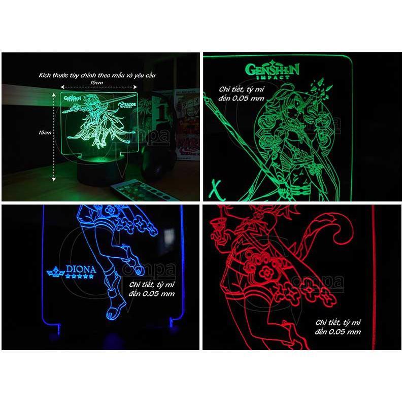 Đèn Ngủ Genshin Impact Keqing Type 02