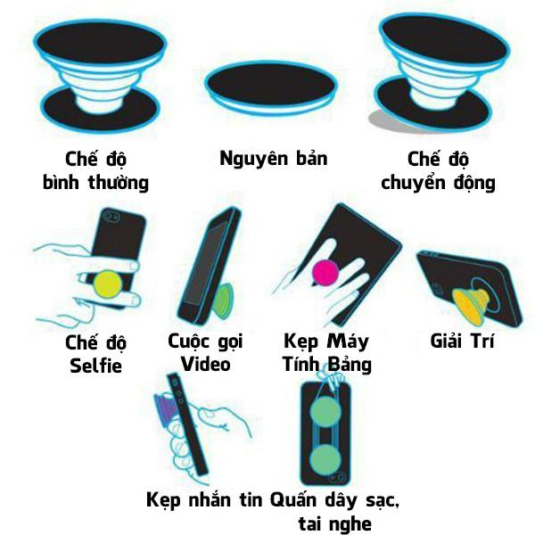 Popsocket in dành cho điện thoại mẫu Hoa Hồng - Hàng chính hãng