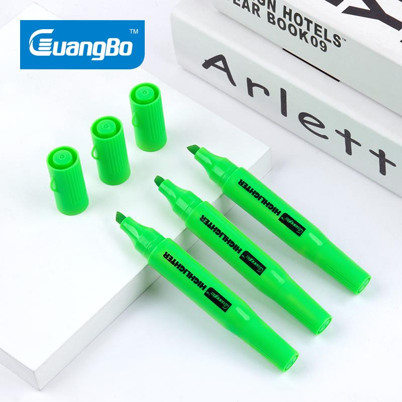 H06081G Bút nhớ dòng 2 tips Guangbo - xanh lá
