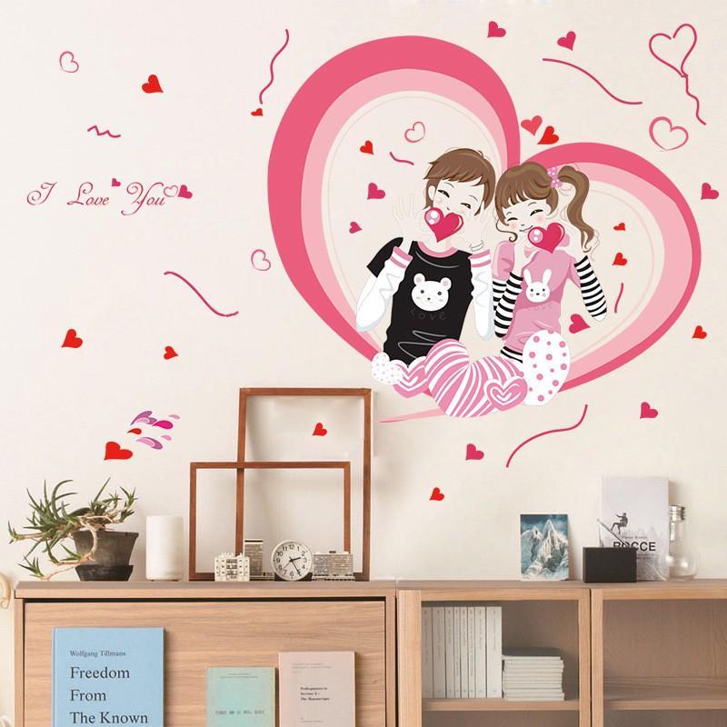 Decal dán tường tình yêu i love you SL2703