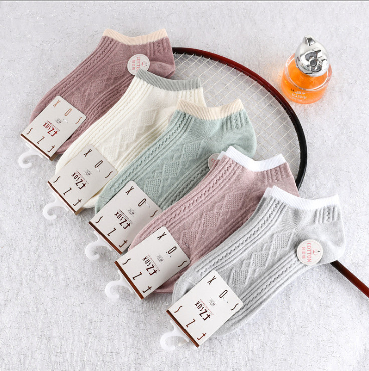 Hình ảnh Bộ 5 đôi tất nữ ngắn cổ Pastel - Hàng cao cấp