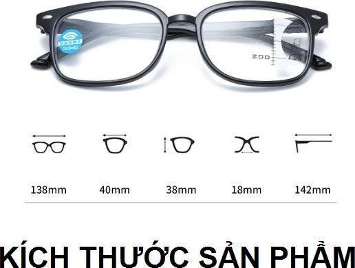 Kính viễn thị lão thị đa tròng nhìn mọi khoảng cách mắt sẵn độ cao cấp