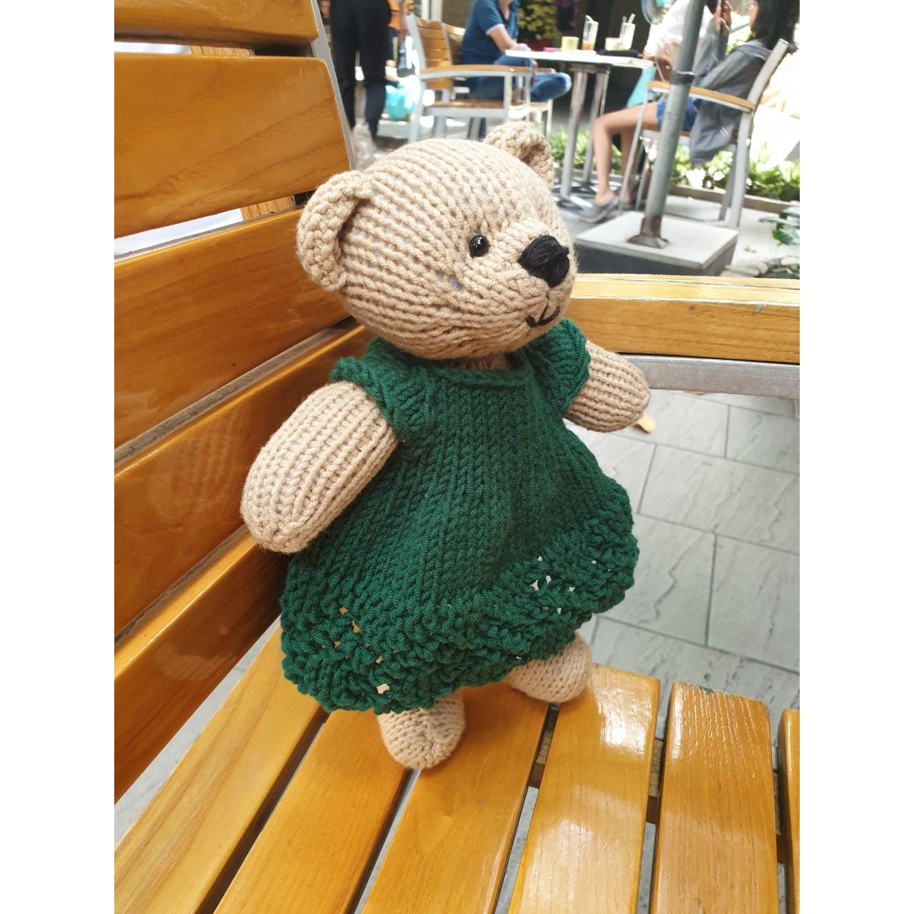 Bé Gấu Nana - thú bông handmade Dori Dori bằng len
