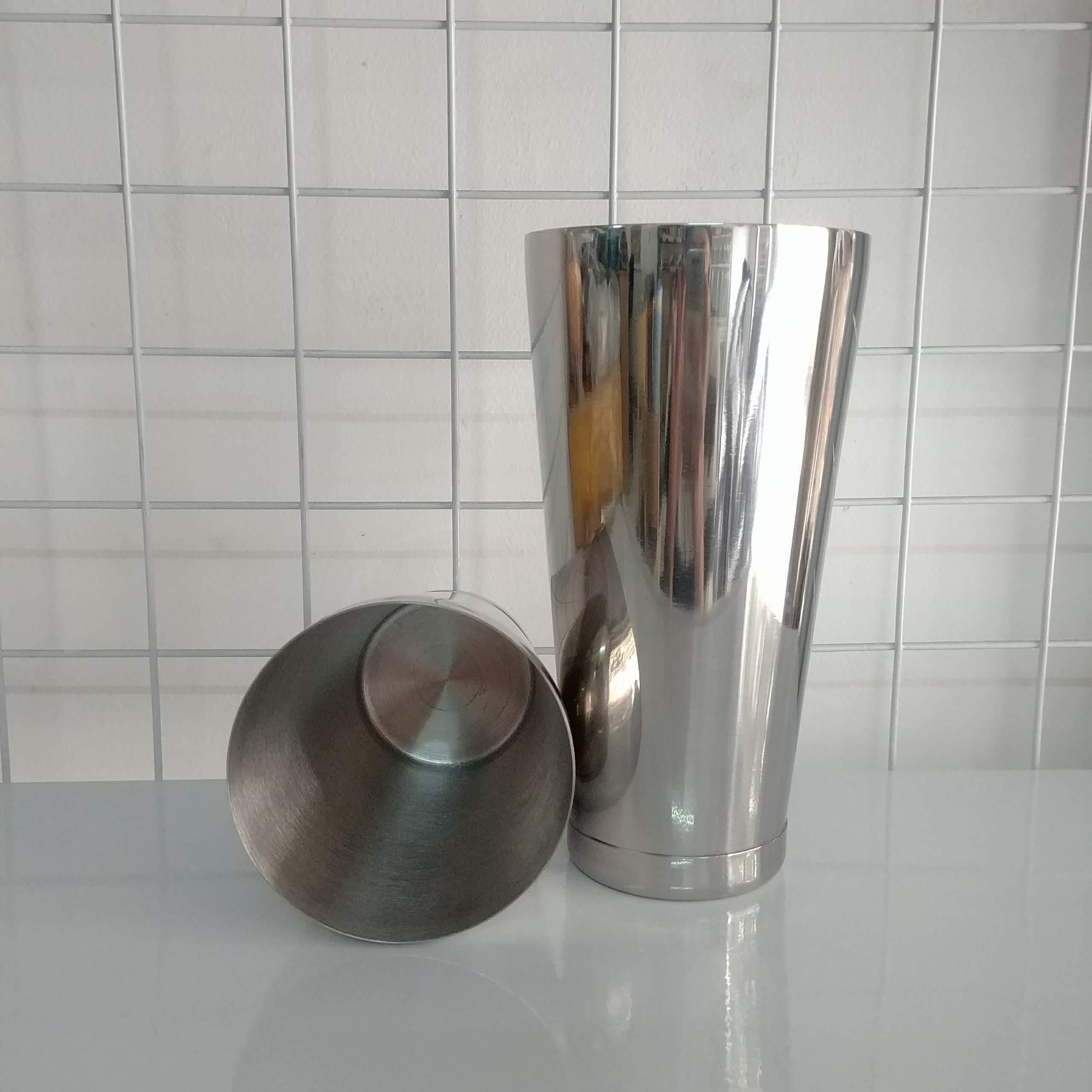 Bình lắc Shaker Inox 2 mảnh 2 đáy - Cocktail Boston