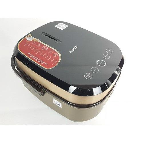 Nồi cơm điện tử 1.8L Matika RC1886 cao cấp, công suất 860W, lòng nồi bằng hợp kim đồng, nút cảm ứng-Hàng chính hãng