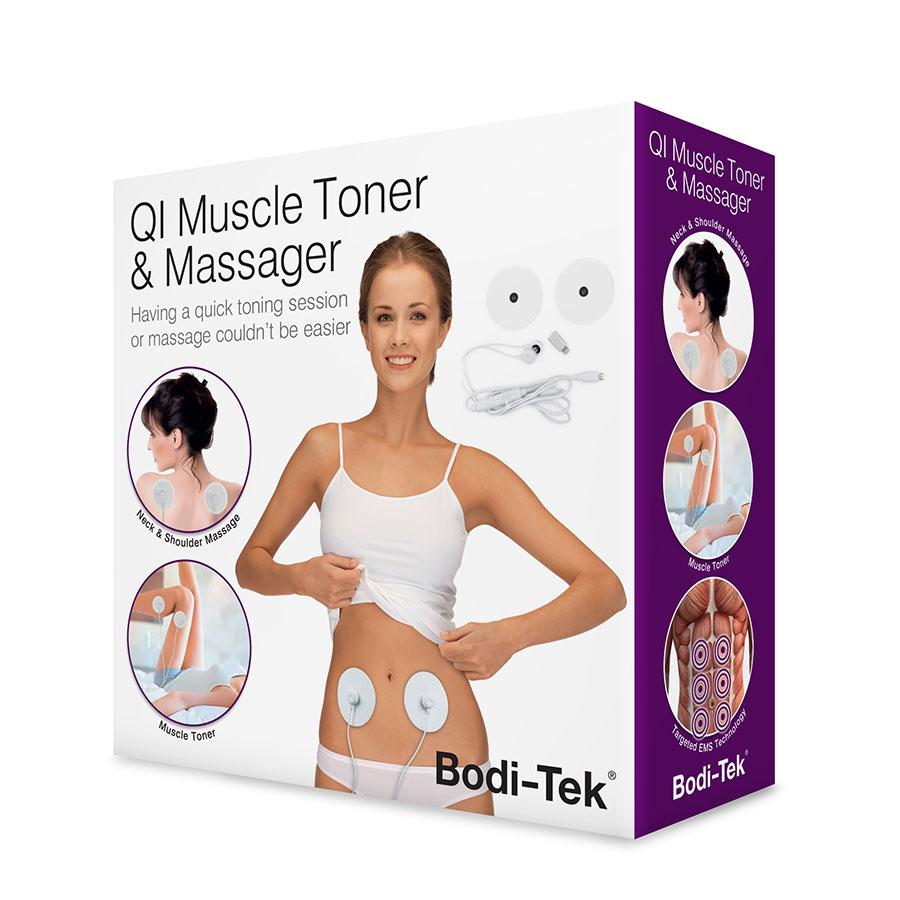 Miếng dán massage mini QI Muscle Toner & Massager BT-MTQI chính hãng