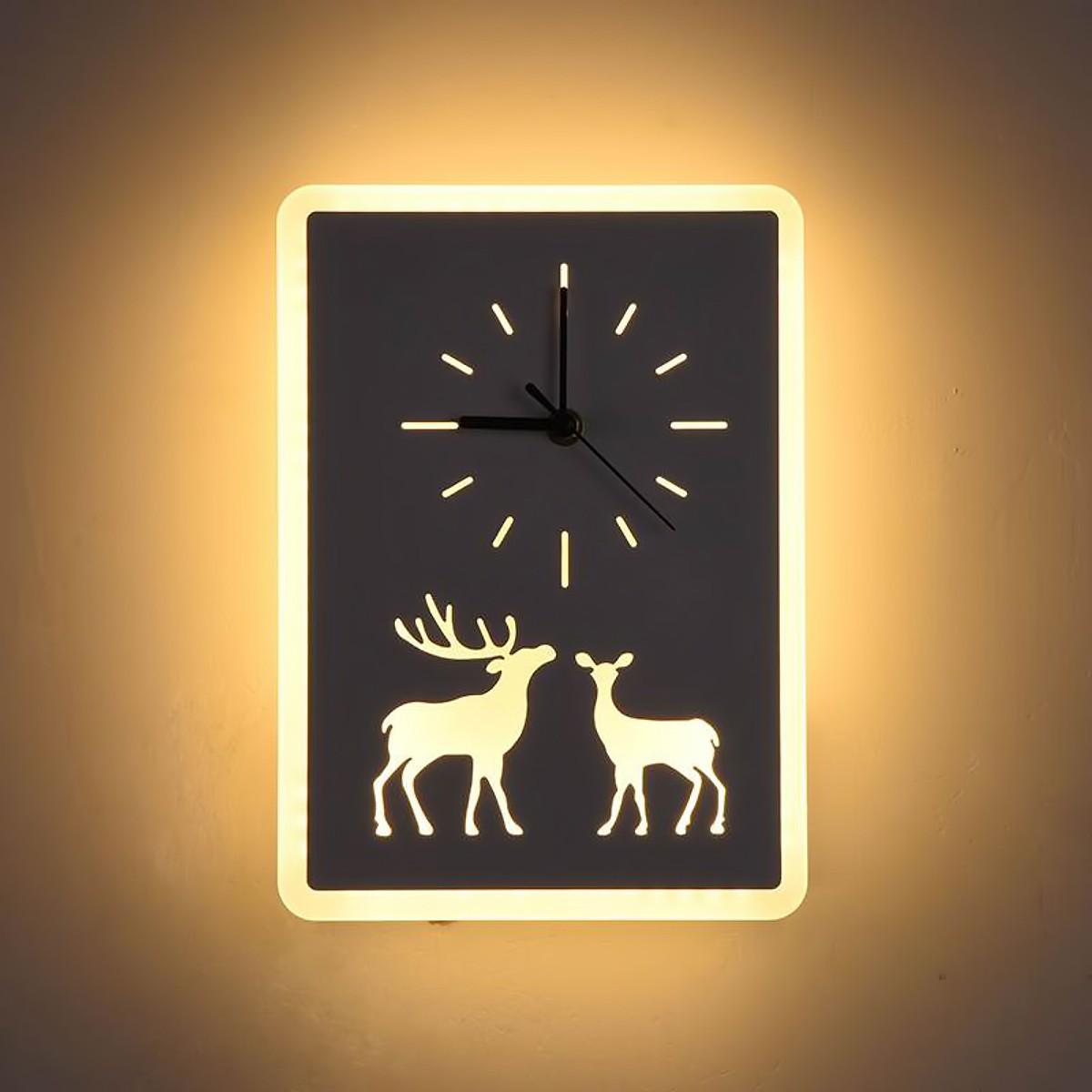 Đèn LED đồng hồ DEER hiện đại tăng thêm sự sang trọng cho không gian