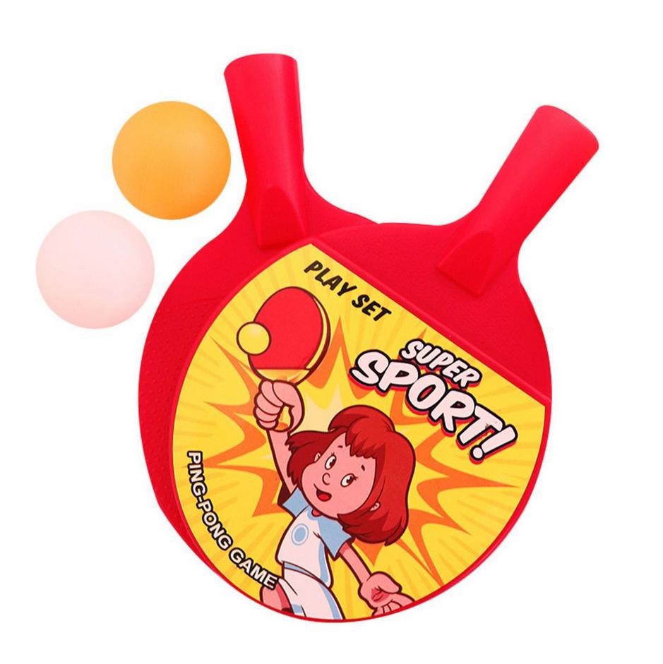 Đồ chơi vợt bóng bàn phiên bản mini dành cho bé - 1 Bộ 2 vợt 2 bóng - Giao màu ngẫu nhiên