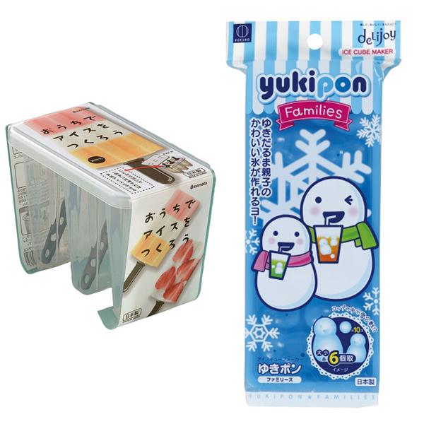 Combo khuôn làm kem 3 chiếc nhựa trong + khay đá hình người tuyết nội địa Nhật Bản