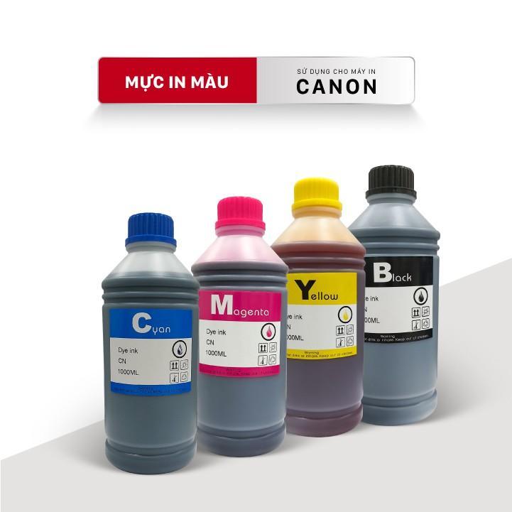 Bộ 4 Màu_Mực nước máy in màu, Chai 1L_cho máy Canon ix6770 /ix6860/ ix6820/ix6560 /G1000/G2000/G3000/G1010/G2010/G3010