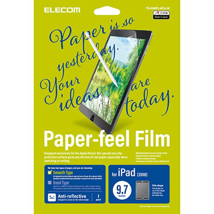Miếng dán màn hình cho Ipad 9.7 inches Elecom Paper- Feel TB-A18RFLAPLL-W - Hàng chính hãng