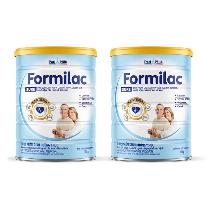 Bộ 2 Lon Sữa bột Formilac SURE (người cao tuổi) - 900g