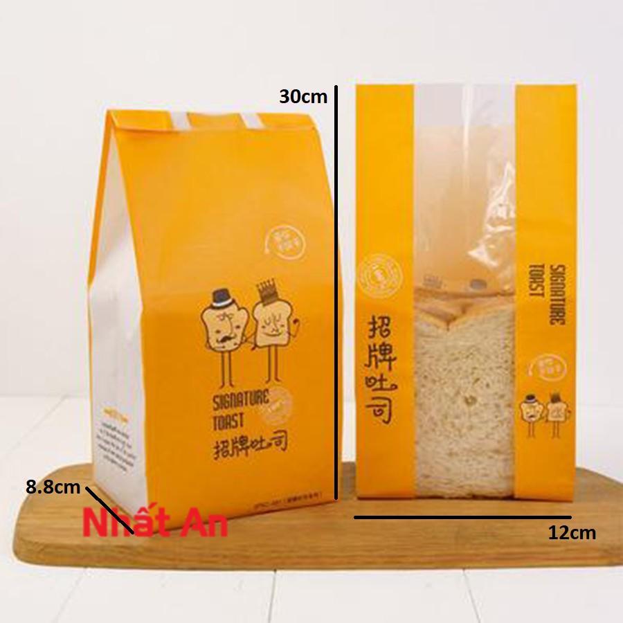 Túi bánh mì hoa cúc cam loại đứng (30x12cm) - 100 cái