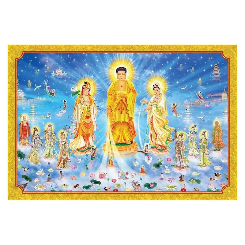 Tranh Phật Giáo Tam Thánh 416