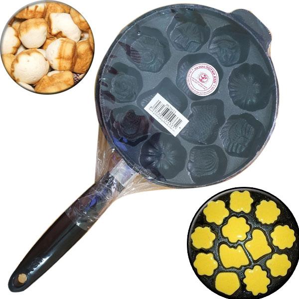 Khuôn Làm Bánh Bông Lan, Bánh Thuẩn 12 Bánh Loại 1 Có Tay Cầm Tiện Dụng Hàng VNCLC