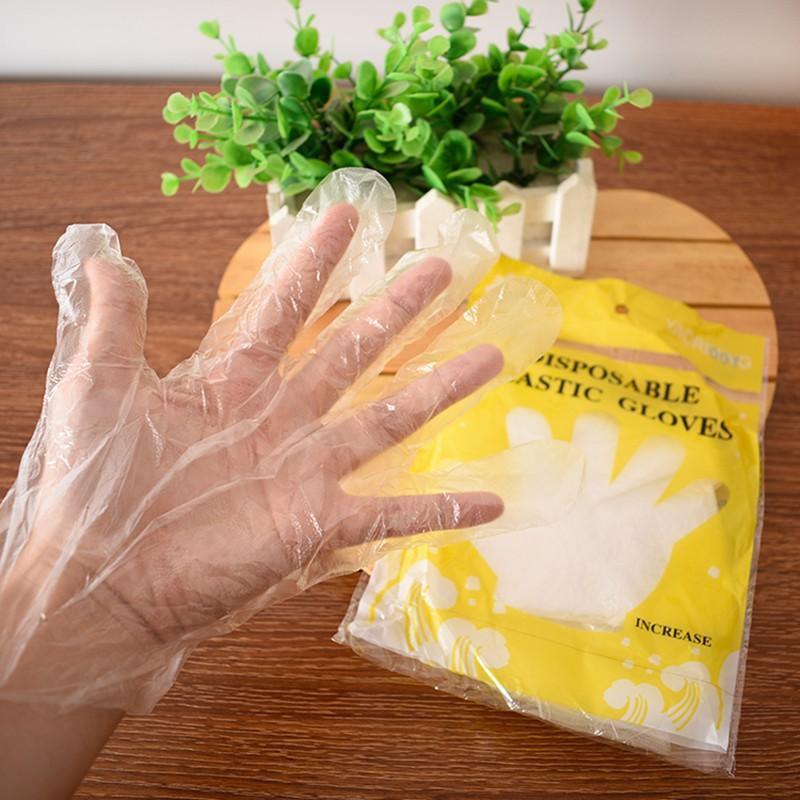 Combo 100 găng tay nilong làm bếp dùng 1 lần tiện lợi, an toàn