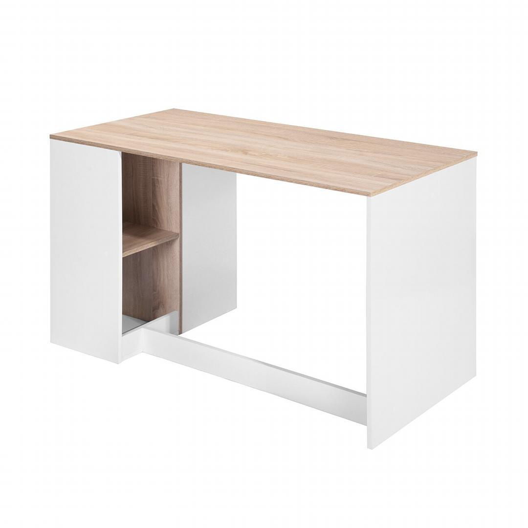 Bàn làm việc, bàn học gỗ hiện đại SMLIFE Deepak
