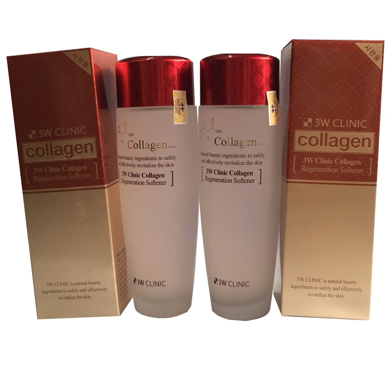 Combo Nước Hoa Hồng 3W Clinic Collagen Regeneration Softener 150 ml(đỏ)