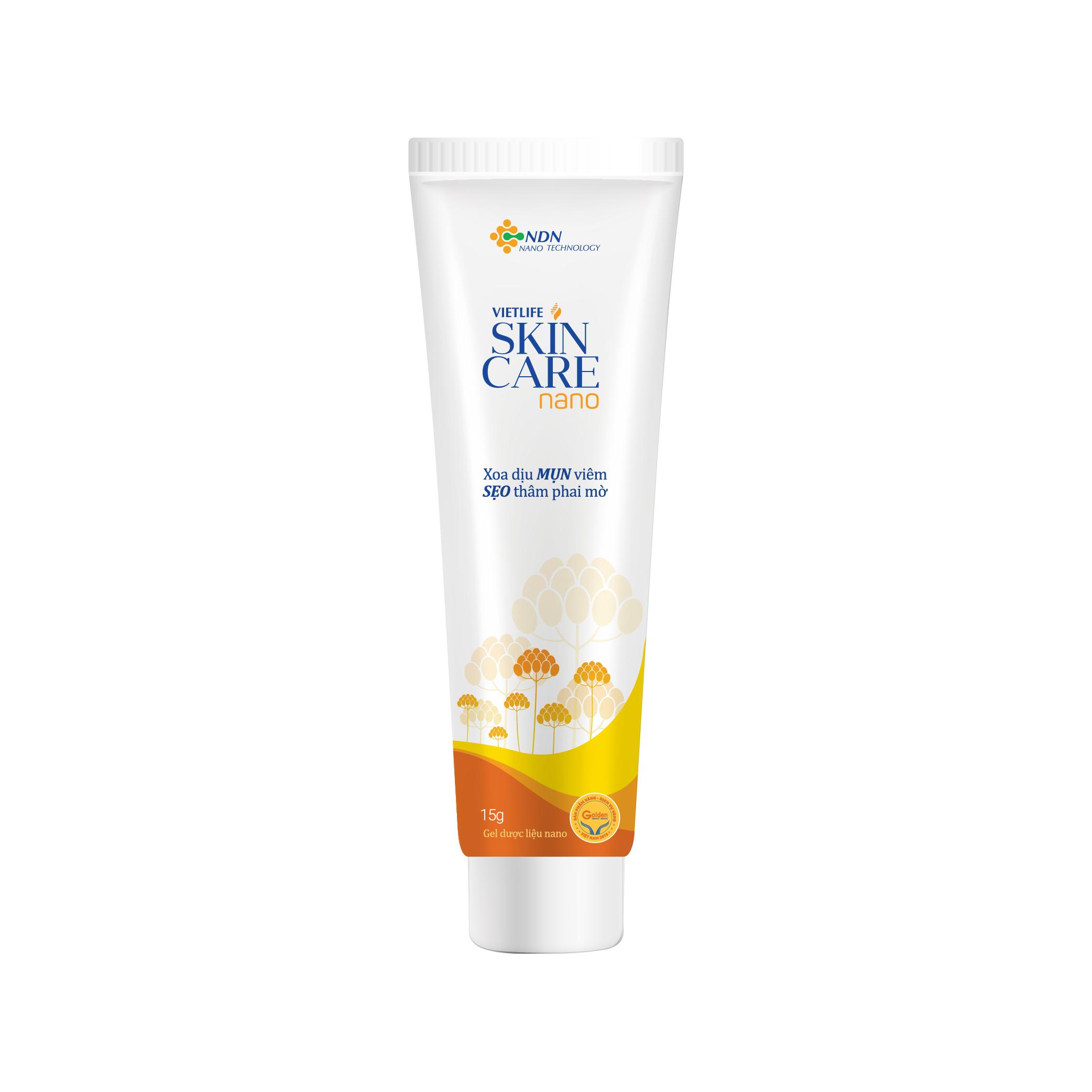 Vietlife Skincare Nano - Gel ngăn ngừa Sẹo Mụn Thâm công nghệ Nano hoá thành phần dược liệu thiên nhiên - Áp dụng công thức Nano độc quyền Sol-Gel của GS Nguyễn Đức Nghĩa